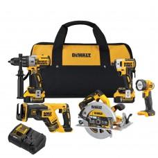 DeWalt DCK594P2 20V MAX XR Lithium Ion 5-Tool Combo kit