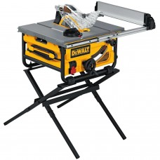 "DeWalt DW745S 15 Amp 10"" Compact Jobsite Table Saw with Stand"