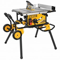 "Dewalt DWE7491RS 10"" Jobsite Table Saw 32 - 1/2"" (82.5cm) Rip Capacity and a Rolling Stand"