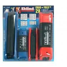 Eklind 25028 4pc hex fold-up set