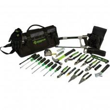 "Greenlee 0159-28MULTI 28 Piece 20"" Multi-Pocket Heavy-Duty Tool Bag Kit"