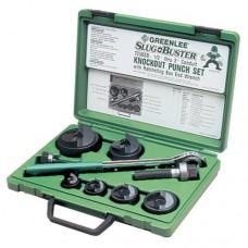 "Greenlee 7238SB Slug-Buster Knockout Kit with Ratchet Wrench 1/2"" thru 2"""