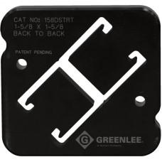 """Greenlee 158DSTRT Back to Back Strut Die Set 1-5/8"""" x 3-1/4"""" for 30T Shear"""