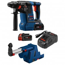 "Bosch GBH18V-26K24GDE 18V EC Brushless 1"" SDS-Plus Bulldog Rotary Hammer Kit"
