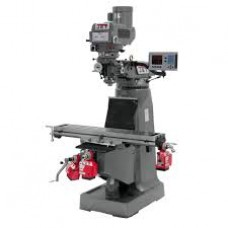 Jet 690153 JTM-4VS Mill 3-Axis ACU-RITE 200S DRO Quill X Y Z-Axis Feeds Draw Bar