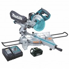 "Makita XSL01 18V LXT Li-Ion 7-1/2"" Dual Slide Compound Miter Saw Kit"