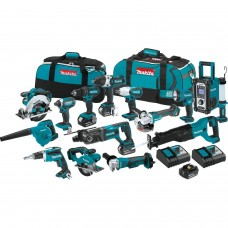 Makita XT1501 18V LXT Lithium-Ion Cordless 15-Piece Combo Kit (3.0Ah)