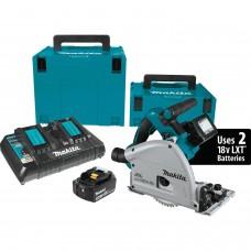 """Makita XPS01PTJ 18V X2 LXT (36V) Brushless 6-1/2"""" Plunge Circular Saw Kit"""