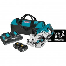 "Makita XSR01PT 18V X2 LXT Li-Ion (36V) Brushless Cordless Rear Handle 7-1/4"" Circular Saw Kit, 5.0Ah"