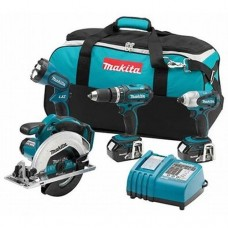 Makita XT405 18V LXT Cordless 4 Pc. Combo Kit BHP452, BTD141, BSS611, BML185, bag
