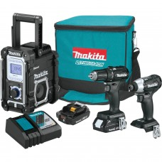 Makita CX301RB 18V LXT Sub-Compact Brushless Cordless 3-Pc. Kit (2.0Ah)
