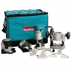 Makita RT0701CX3 1-1/4 HP Compact Router Kit with Dust Collection Attachments