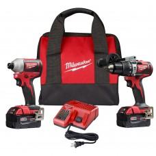 Milwaukee 2893-22 M18 Brushless Hammer Drill/Impact Combo Kit