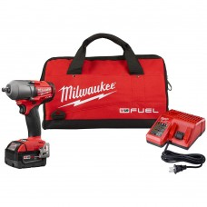 "Milwaukee 2860-21 M18 FUEL 1/2"" Mid-Torque Impact Wrench with 5.0 Starter Kit"