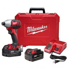 "Milwaukee 2657-22 M18 2-Speed 1/4"" Hex Impact Driver Kit"