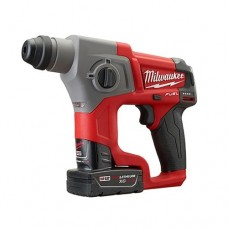 "Milwaukee 2416-22XC M12 Fuel 5/8"" Sds Plus Rotary Hammer Kit W/2 Xc Bat"