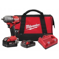"""Milwaukee 2861-22CX M18 FUEL 1/2"""" Mid-Torque Impact Wrench w/ Friction Ring Kit"""