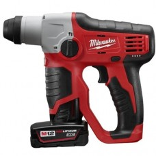 "Milwaukee 2412-22XC M12™ Cordless 1/2"" SDS Plus Rotary Hammer Kit"