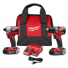 Milwaukee 2892-22CT M18 Compact Brushless Drill/Impact Driver Combo Kit