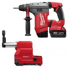 "Milwaukee 2715-22DE M18 FUEL 1-1/8"" SDS PLUS Rotary Hammer with Dust Extract Kit"