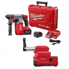 "Milwaukee 2712-22DE M18 FUEL 1"" SDS PLUS Rotary Hammer with Dust Extraction Kit"