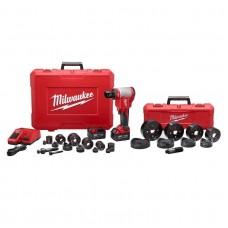 """Milwaukee 2676-23 FORCELOGIC M18 10-Ton Knockout Tool 1/2"""" to 4"""" Kit"""