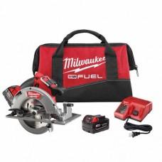"Milwaukee 2731-22 M18 FUEL 7-1/4"" Circular Saw, 2 Battery Kit"