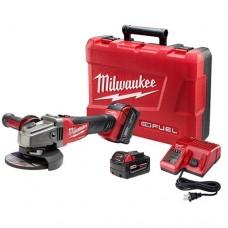 "Milwaukee 2781-22 M18 FUEL 4-1/2 - 5"" Grinder, Slide Switch Lock-On Kit w/ 2 Batteries"