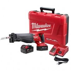 Milwaukee 2720-22 M18 FUEL SAWZALL Reciprocating Saw Kit with 2 Batteries