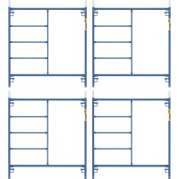 Metaltech Saferstack 5ft. x 5ft. Mason Frame — 4-Pack, Model# M-MF6060PSK4