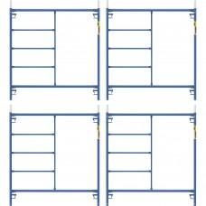 Metaltech Saferstack 5ft. x 5ft. Mason Frame — 4-Pack, Model# M-MF6060PSK4