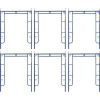 Metaltech Saferstack 6ft. x 5ft. Arch Frame — 6-Pack, Model# M-MA7660PSK6