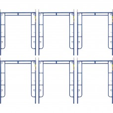 Metaltech Saferstack 6ft. x 5ft. Arch Frame — 6-Pack, Model# M-MA7660PSK6