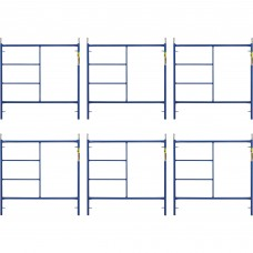 Metaltech Saferstack 5ft. x 5ft. Mason Frame — 6-Pack, Model# M-MF6060APSK6