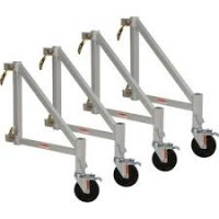 Metaltech 4-Piece 14in. Scaffold Outrigger Set, Model# I-CAISC04