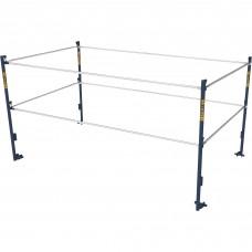 Metaltech 5ft.W x 10ft.D Scaffold Guardrail System — Model# M-MG507K
