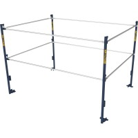 Metaltech 5ft.W x 7ft.D Scaffold Guardrail System — Model# M-MG507K