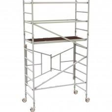 Metaltech 6ft. Easy-Set Aluminum Scaffold Tower with Guardrail — 800-Lb. Capacity, Model# AL-Q0105