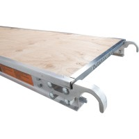 Metaltech 7ft. x 19in. Aluminum Platform with Edge Capping— Model# M-MPP719RE