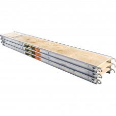 Metaltech Aluminum Scaffold Platform 3-Pk. — 10ft.L x 19in.W, Model#  M-MPP1019K3
