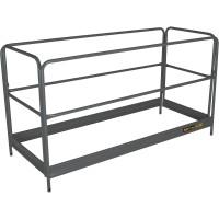 Metaltech BuildMan Guardrails System — Fits BuildMan Model I-IBMSS Drywall Baker Scaffolding, Model# I-BMSGR