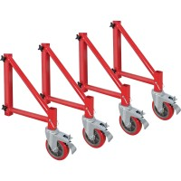 Metaltech BuildMan Outriggers With Casters, Model# I-BMS04 — Set of 4, Fits BuildMan Model I-IBMSS Drywall Baker Scaffolding
