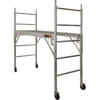 Metaltech Multi-Purpose 6ft. Baker-Style Aluminum Scaffold — 700-Lb. Capacity, Model# I-CAISC