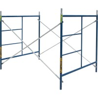 Metaltech SAFERSTACK Single Lift Scaffold Set — 5ft. x 5ft. x 7ft., Model# M-MFS606084