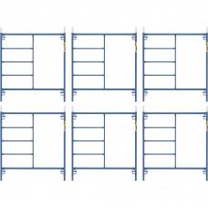 Metaltech Saferstack 5ft. x 5ft. Mason Frame Kit — 6-Pack, Model# M-MF6060PSK6
