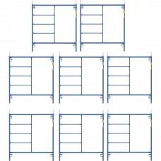 Metaltech Saferstack 5ft. x 5ft. Mason Frame Kit — 8-Pack, Model# M-MF6060PSK8