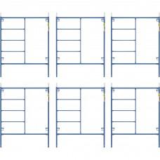 Metaltech Saferstack 6.4ft. x 5ft. Mason Frame Kit — 6-Pack, Model# M-MF7660PSK6