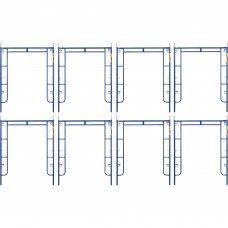 Metaltech Saferstack 6ft. x 5ft. Arch Frame — 8-Pack, Model# M-MA7660PSK8