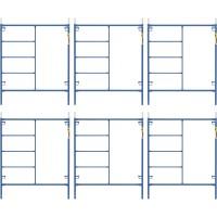 Metaltech Saferstack 6ft. x 5ft. Mason Frame Kit — 6-Pack, Model# M-MF7260PSK6