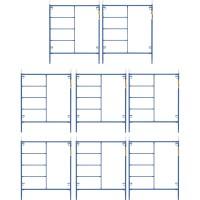 Metaltech Saferstack 6ft. x 5ft. Mason Frame Kit — 8-Pack, Model# M-MF7260PSK8